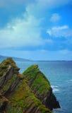 Mening van dunquinpijler, Kerry kust, Ierland Stock Foto's