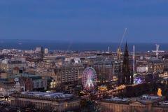 Mening van Edinburgh stock fotografie