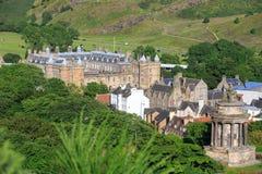Mening van Edingurgh-stad op Calton-Heuvel, Schotland stock fotografie
