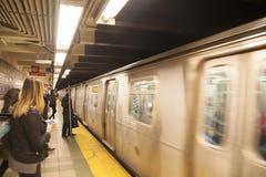 Mening van een bewegende trein stock foto