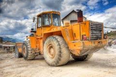 Mening van een bulldozer Royalty-vrije Stock Foto's