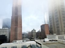Mening van een 16de verdieping op van de binnenstad van Atlanta Royalty-vrije Stock Foto's