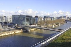 Mening van een district van Boulogne Billancourt Royalty-vrije Stock Foto's