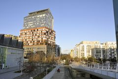 Mening van een district van Boulogne Billancourt Stock Fotografie