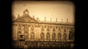 Mening van een Frans gebouw van Neoclasical in Parijs stock videobeelden