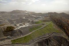 Mening van een kolenmijn, Appalachia royalty-vrije stock afbeelding