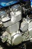 Mening van een motor van motorfiets Stock Afbeelding