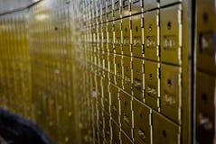 Mening van een muur van brievenbussen Royalty-vrije Stock Fotografie
