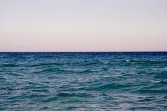 Mening van een open zee Stock Fotografie
