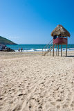 Mening van een rustig strand. Mazatlan, Mexico Stock Foto