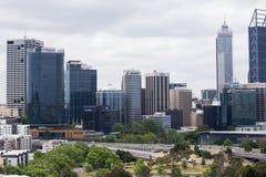Mening van een sectie van de horizon van Perth van Koningenpark Royalty-vrije Stock Foto's