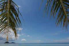 Mening van een strand Royalty-vrije Stock Fotografie