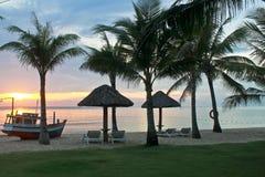 Mening van een strand in Phu Quoc stock foto