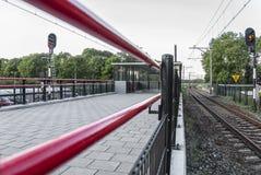 Mening van een trainstation royalty-vrije stock foto's