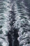 Mening van een veerboot op de zuiging stock afbeelding
