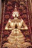 Mening van een Viharn en een Stupa bij de historische Boeddhistische tempel van Wa Royalty-vrije Stock Foto's
