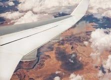 Mening van een vliegtuig Stock Fotografie
