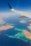 Mening van een vliegtuigvenster Royalty-vrije Stock Fotografie