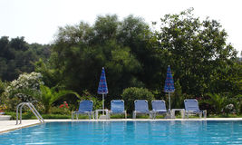 Mening van een Zwembad Royalty-vrije Stock Afbeelding