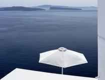 Mening van Egeïsche overzees van Santorini Royalty-vrije Stock Foto