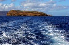 Mening van eiland in Hawaï op de dag van de zomer Stock Foto's
