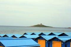 Mening van eiland over daken Royalty-vrije Stock Fotografie