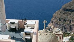 Mening van eiland Santorini royalty-vrije stock afbeelding