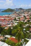 Mening van eilandstad stock foto's