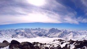 Mening van Elbrus stock footage