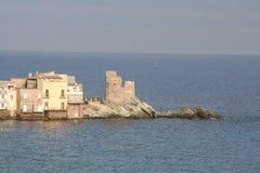 Mening van Erbalunga in Corsica royalty-vrije stock foto's