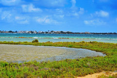 Estany Des Peix in Formentera, de Balearen, Spanje Royalty-vrije Stock Foto