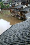 Mening van fenghuang antieke stad, China stock foto