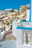 Mening van Firostefani in Santorini Stock Fotografie