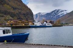 Mening van Flam, Noorwegen royalty-vrije stock afbeeldingen
