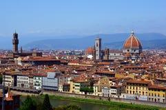Mening van Florence op een zonnige dag Royalty-vrije Stock Foto's