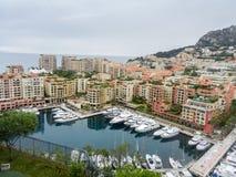 Mening van Fontvieille van Monte Carlo royalty-vrije stock foto