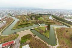 Mening van Fort Goryokaku Stock Fotografie