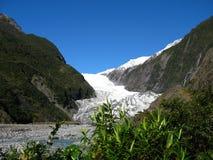 Mening van Franz Josef Glacier, Nieuw Zeeland Stock Afbeeldingen
