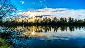 Mening van Fraser River in Brits Colombia, Canada stock afbeelding
