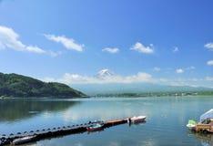 Mening van Fuji-berg Royalty-vrije Stock Foto's