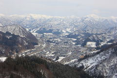 "Mening van Gala Yuzawa Ski Resort †""Japan stock foto's"