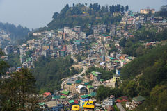 Mening van Gangtok-stad, Sikkim, India Royalty-vrije Stock Foto