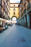 Mening van gateway aan de Pleinburgemeester op 24 Maart, 2017 in Madrid, Royalty-vrije Stock Afbeeldingen