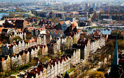 Mening van Gdansk (Danzig) stock afbeeldingen