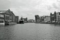 Mening van Gdansk, oude Stad. stock afbeelding