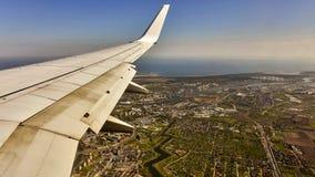 Mening van Gdansk van een vliegtuig, Polen Royalty-vrije Stock Afbeeldingen