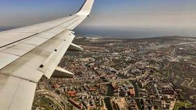 Mening van Gdansk van een vliegtuig, Polen Royalty-vrije Stock Afbeelding