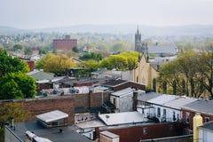 Mening van gebouwen in de Lezing van de binnenstad, Pennsylvania royalty-vrije stock foto's