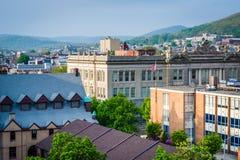 Mening van gebouwen in de Lezing van de binnenstad, Pennsylvania royalty-vrije stock afbeeldingen
