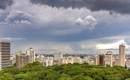 Mening van gebouwen en horizon van de stad van Sao Paulo Royalty-vrije Stock Fotografie